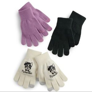 So Cold Weather 3PK Tech Glove Frenchie/Terrier.